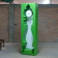 Oh I see what you did there...InsideOut Clock Green now featured on Fab.