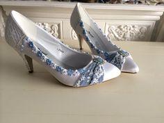 Custom blue shoes