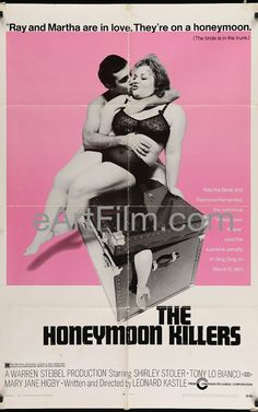 Happy Birthday #TonyLoBianco https://eartfilm.com/products/the-honeymoon-killers-1969-original-vintage-movie-poster #actors #acting #TheHoneymoonKillers #TheFrenchConnection #Broadway #theater #Brooklyn  Honeymoon Killers, The 1969 27x41 Original U.S One Sheet Movie Poster