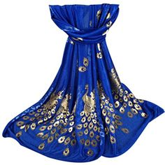 Fashion Women Long Print Scarf Wrap Ladies Shawl Girls Large Scarves charming, fashion and chic Red Hair Ties, Anchor Scarf, Fashion Slides, Royal Blue And Gold, Blue Gold, Dark Blue, Scarf Top, Large Scarf, Summer Scarves