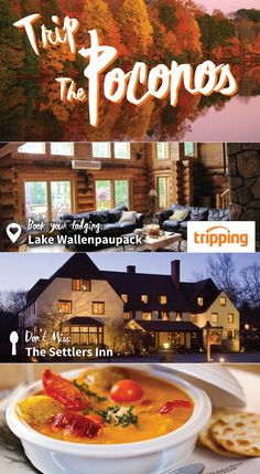 Trip the Poconos this year with Tripping.com! This beautiful mountain range is perfect for a secluded vacation getaway. Start out with a private cabin rental from Tripping.com, and then get a taste of the best dining in the area at The Settlers Inn. Find peace away from it all with Tripping.com's Poconos cabin and resort spaces.