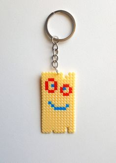 Plank Keychain Ed Edd n Eddy Plank Comic con Cartoon network Retro 90s Pixel art Hama beads Perler beads Geek Nerd Geekery Geeky gift by PXLprincess on Etsy