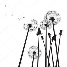 st.depositphotos.com 1635204 4591 v 950 depositphotos_45915189-stock-illustration-black-dandelions-on-white-background.jpg