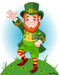 """Download the royalty-free vector """"Lucky Dancing Leprechaun"""" designed by Anna Velichkovsky at the lowest price on Fotolia.com. Browse our cheap image bank online to find the perfect stock vector for your marketing projects!"""