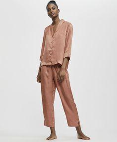 Μακρύ πουά παντελόνι σε πορτοκαλί σκούρο - 0