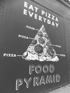 Make pizza a part of your pyramid. Pizza Life, Eat Pizza, Pizza Art, Pizza Food, I Love Pizza, Good Pizza, Sizzle Pie, Food Pyramid, Food Humor
