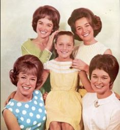 The original Lennon Sisters, Janet, Dianne, Kathy, and Peggy with their sister, Mimi, who took Peggy's place when she retired in 1999.
