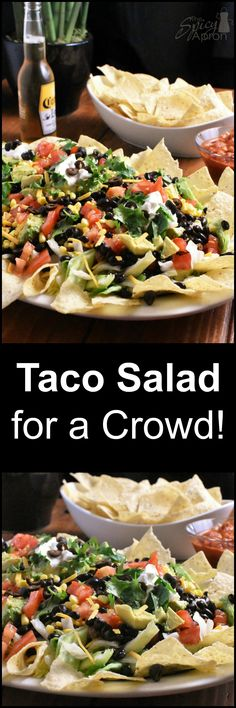 When you need to feed a crowd in a hurry! This Beefy Taco Salad does the trick! … When you need to feed a crowd in a hurry! This Beefy Taco Salad does the trick! You won't believe how good (and easy) it is! Beef Recipes, Mexican Food Recipes, Salad Recipes, Healthy Recipes, Mexican Dishes, Recipies, Healthy Salads, Healthy Life, Burritos