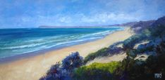 I am an artist who is passionate about Australia. I paint nature-inspired oil paintings of forests, flowers, the outback, gum trees and the sea. Ocean Grove Beach, Crashing Waves, The Dunes, 30 Day Challenge, Beach Look, Imagination, February, Challenges, Paintings