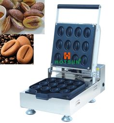 260.00$  Buy here - http://alisf8.worldwells.pw/go.php?t=32770092337 - Free Shipping Commercial Non-stick Electric Coffee Bean Waffle Maker Iron Machine Baker 260.00$
