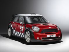 The Mini John Cooper Works S2000 Rally Car. I love the Mini Countryman because of the design's slight attitude and because of the vehicle concept. This rally car is just the coolest , raciest version of a car I really like.