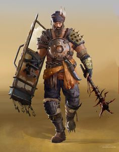 Concept of a Sikh gladiator fighting in post apocalyptic pits, personal project that I am trying to find more time to do more of. Post Apocalypse, Apocalypse World, Post Apocalyptic Costume, Post Apocalyptic Art, Character Art, Character Concept, Character Inspiration, Nail Bat, Gladiator Fights