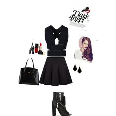 A fashion look from February 2015 featuring sleeveless tops, black skirt and black booties. Browse and shop related looks.