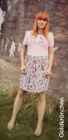 Damen Kleid Gr.36/38 verspielt rosa süß von Goldkroenchen auf Etsy