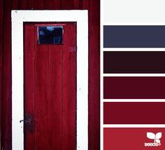 a door red