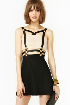 Harness Stud Dress, Nasty Gal  WHAT?! YES, PLEASE.