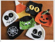 Halloween Hats MADE TO ORDER ghost cat candy por KassiesCrochet