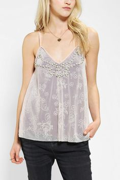 8ceda08185090 Kimchi Blue Flocked Fliss Cami. Cropped Tank TopCrop ...