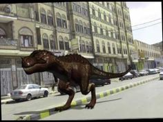 Dinosaur in Sanaa, Yemen ديناصور في صنعاء اليمن
