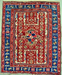 Northwest Anatolian Bergama rug - circa 1800 - 5'10 x 7'1 ft. - 178 x 215 cm. - one of about 9 or 10 known examples!