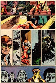 "brianmichaelbendis: ""DAREDEVIL #181 (April 1982) Art by Frank Miller & Klaus Janson Words by Frank Miller """