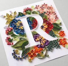 paper art Creative Paper Lettering Artworks by Anna Chiara Valentini - Inspiration Grid Arte Quilling, Quilling Letters, Paper Quilling Patterns, Quilled Paper Art, Quilling Paper Craft, Paper Crafts, Paper Letters, Quilling Ideas, 3d Paper