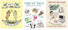 Friend love, friends with benefits, and ex-turned-friends Valentine's Day cards