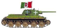 T-34, Regio Esercito 62° Gruppo Corazzato, 120 Reggimento d'Artiglieria, Russia zona del Don, Estate 1942.