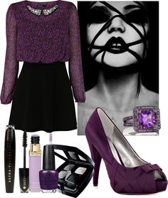 """Purple"" by dragon-i-am ❤ liked on Polyvore"