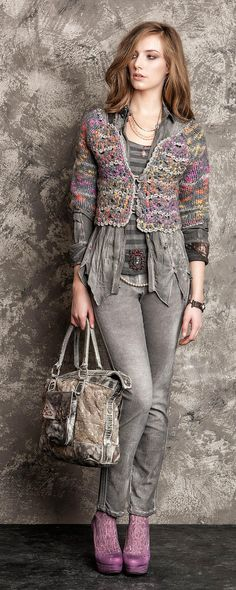 cavaletti . I'm really liking this designers every day style with a bit of grunge, hand made and upcycle vibe going on.