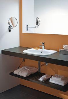 Duravit - Bathroom series: D-Code, love this concept for the half bath