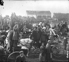 Punchestown Races, Co. Kildare, via Old Ireland Pictures  Ireland Pictures, Dublin Castle, Kingdom Of Great Britain, Male Poses, Donegal, Amazing Pics, Historical Pictures, Horse Racing, Vintage Photos
