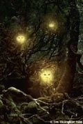 The Will-o-wisp is among the most named faeries, travelling with countless aliases. Among the Cornish names are Faery lights, St. Elmo's Fire, Jack-o-Lantern, Bob-A-Longs and Jenny Burnt-Tail. The Shetland and Orkeny Islands use Teine Sith (meaning Fire Faery), the Germans 'Huckpoten,' the Swedish Irrbloss, the French Eclaireux, the Italians Candelas and the Russians Ruskaly.