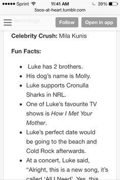 Luke hemming facts part 2❤️
