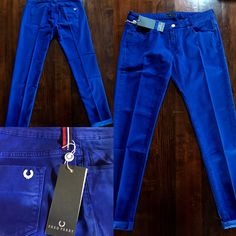 Fred Perry Womens Trousers. Pantalone Lungo. Electric Blue. #fredperry #womens #donna #trousers #pantaloni #color  #blue #electric #blu #elettrico