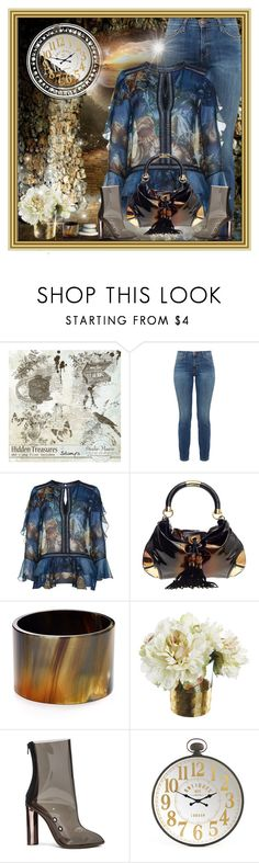 """Blue and Denim"" by gianna-pellegrini ❤ liked on Polyvore featuring Current/Elliott, Alberta Ferretti, Gucci, Robert Lee Morris and adidas"