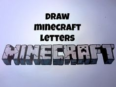 How To Draw Minecraft Letters