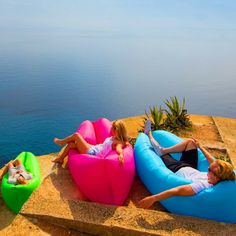 The Ultimate Inflatable Air Outdoor Lounger Bed  THE ULTIMATE INFLATABLE AIR LOUNGER is a MUST HAVE for all outdoor lovers! Take it to the park, the lake, the pool, take it to the ocean, hiking, camping, open air concerts, etc. Options are endless. It's perfect for ANY location.   Inflates in seconds with NO PUMP or Equipment needed!