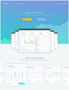 Chart Website – Landing page by Dwinawan Hariwijaya