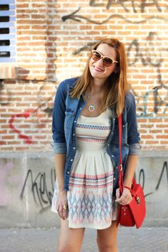 86d59409246 Denim shirt over a fit  amp  flare dress w chucks maybe  Fit 4