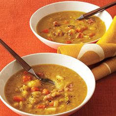 Smoky split pea soup