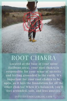 What exactly is root chakra? This infographic will definitely help you find it and use it achieve balance and stay grounded! #chakratips #spiritualtipsforwomen
