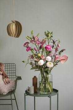 How to use the Flexa trend color of 2020 Tranquil Dawn in your interior – How to use the Flexa trend color of 2020 Tranquil Dawn in your interior Das schönste Bild für di – painting garden bouquet