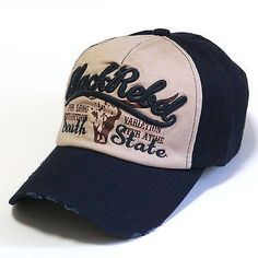 #Distressed vintage ball cap men's #trucker hat baseball cap south #state navy,  View more on the LINK: 	http://www.zeppy.io/product/gb/2/171470426890/