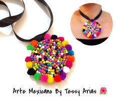 Diy Collares, Kutch Work Designs, Accesorios Casual, Diy Jewelry, Jewerly, Collars, Crochet Necklace, Textiles, Necklaces
