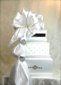 Wedding Card Box Custom Card Box Handmade Card by WrapsodyandInk, $142.00