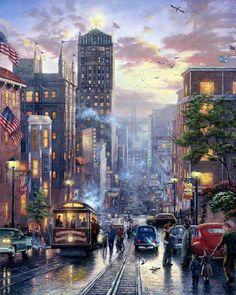 Городской пейзаж Thomas Kinkade. Обсуждение на LiveInternet - Российский Сервис Онлайн-Дневников