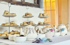 Vintage Tea, wedding cream tea, alternative wedding ideas.  by Katie Drouet Photography