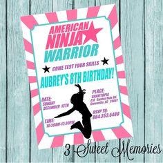 American Ninja Warrior Printable Invitation by 3SweetMemories
