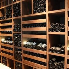 wine cellar with slide-outs